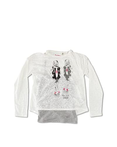 Pepe Jeans London Camiseta Manga Larga Jeanine Blanco