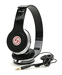 Oneplus 3 Compatible Signature Brand High Quality VM-46 Stereo Bass Solo Headphones For Iphone,Samsung, Redmi and All Other Smartphones (Black Color)