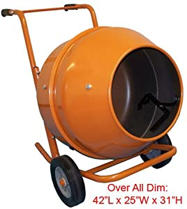 5 Cubic Feet Wheel Barrow Portable Cement Concrete Mixer from Generic