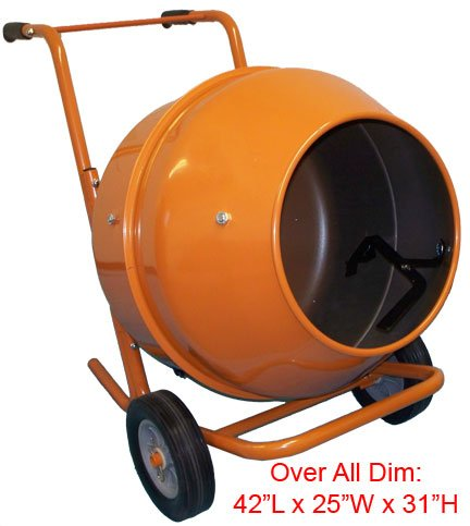 Discover Bargain 5 Cubic Feet Wheel Barrow Portable Cement Concrete Mixer