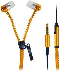 Paracops Zipper Orange Dynamic Headphone Wired Headphones