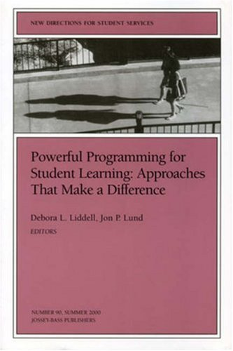 Powerful Programming for Student Learning: Approaches That Make a Difference: New Directions for Student Services, Numbe