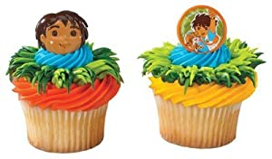 Go Diego Go Cupcake Rings (12 Pack)