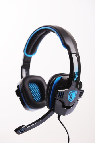 Sades Sa-708 Primary Pc Gaming Headset W/ Noise Cancelling - Black/Blue