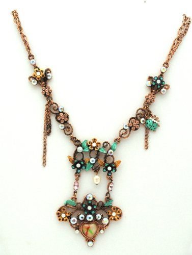 Vintage Style Copper-tone Necklace with Ladybug Accent