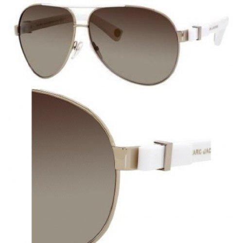 Marc Jacobs Marc Jacobs MJ445/S Sunglasses-0RCE Light Gold White (JD Brown Grad Lens)-63mm