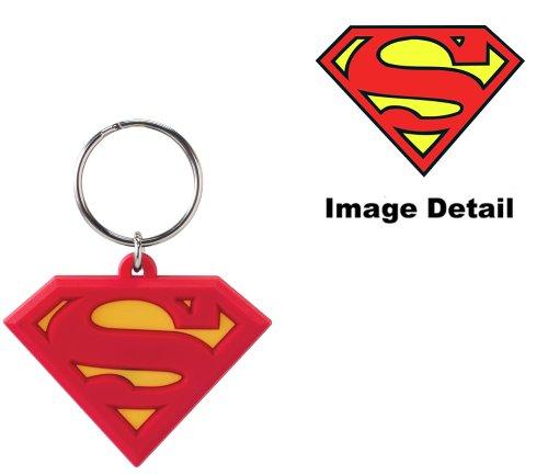 DC Superman Logo Soft Touch PVC Key Ring - 1