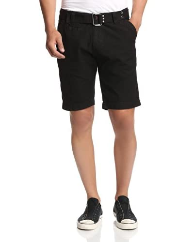 X-Ray Men's Solid Wash Flat Front Shorts