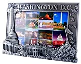 Washington DC Picture Frame - Silver, (Fits 4X6 picture), Washington D.C. Souvenirs, Washington DC Gifts
