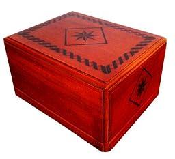 Urnporium Beloved Treasure Mahogany Wood Cremation Urn