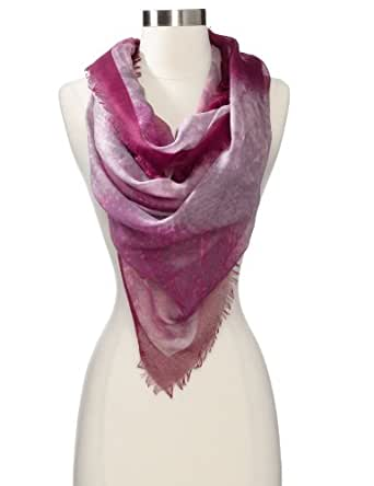 collection eighteen Women's Border Snake Wrap Scarf, Mystical Grape, One Size