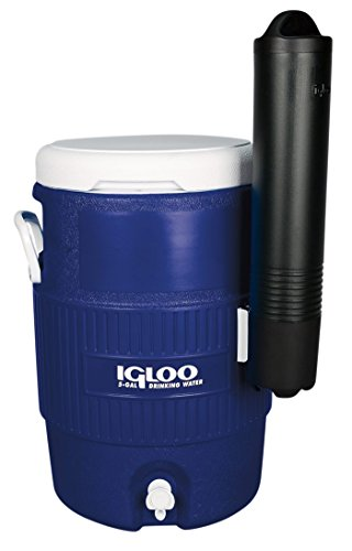 Igloo Seat Top Beverage Cooler with Cup Dispenser (5-Gallon, Ocean Blue)