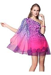 Ever Pretty One Shoulder Hot Pink Leopard Print Mini Club/Party Dress 03635