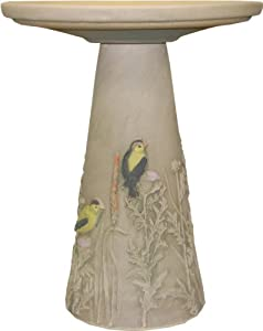 Burley Clay Goldfinch Bird Bath Pedestal