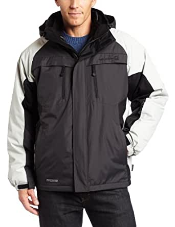 Free Country  Men's Color Block 3 In 1 System Jacket,Lead/Black,Medium