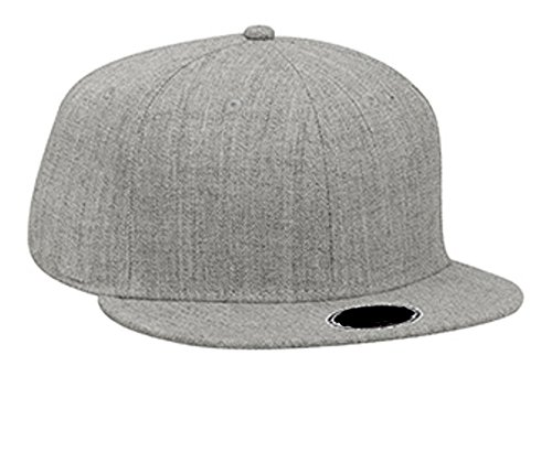 Hats & Caps Shop Heather Wool Blend Flat Visor Pro Style Snapback Caps - By TheTargetBuys