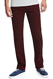 Pure Cotton 5 Pocket Tapered Leg Corduroy Trousers [T17-8526M-S]