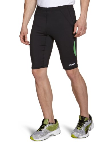 ASICS Herren Laufhose Sprinter, black/savage, XL, 321251-0448-XL