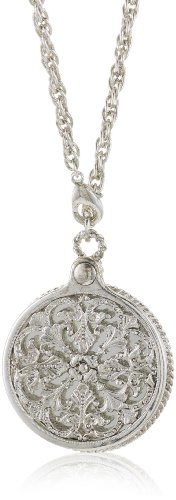 Antiquities Couture Long Victorian Mirror Pendant Necklace