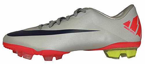 Nike JR Mercurial Vapor VII FG (GS) Big Kids Soccer Cleats [442058-051] Granite/Imperial Purple-White-Solar Red Boys Shoes 442058-051-1 (Nike Mercurial Vapor Superfly 1 compare prices)