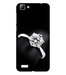 ifasho Engagement Ring Back Case Cover for VIVO Y53
