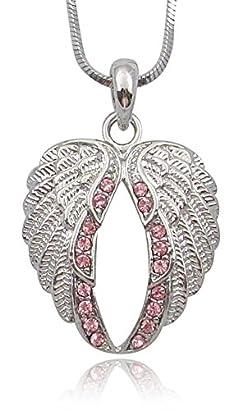 Teens Small Heart Angel Wings Crystal Stud Earrings Jewelry Gift for Girls Red Crystal Women