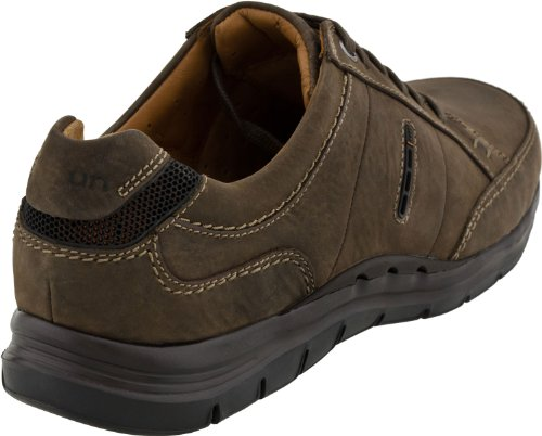 Clarks Men's UN Preston Lace-Up Oxford,Dark Brown Nubuck,7.5 M US