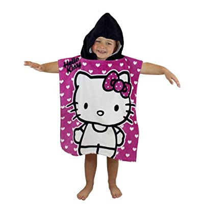Character World Hello Kitty Hearts Hooded Poncho
