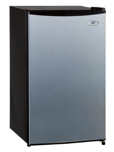 SPT RF-334SS Compact Refrigerator, 3.3 Cubic Feet, Stainless Steel, Energy Star (Stainless Steel Mini Fridge compare prices)