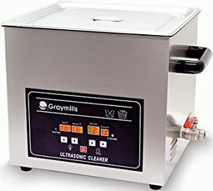 Graymills BTV-300 Digital 7.9 Gal Ultrasonic Heated Cleaner w/ Basket & Lid