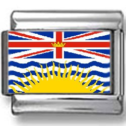 British Columbia, Canada Flag Photo Italian Charm