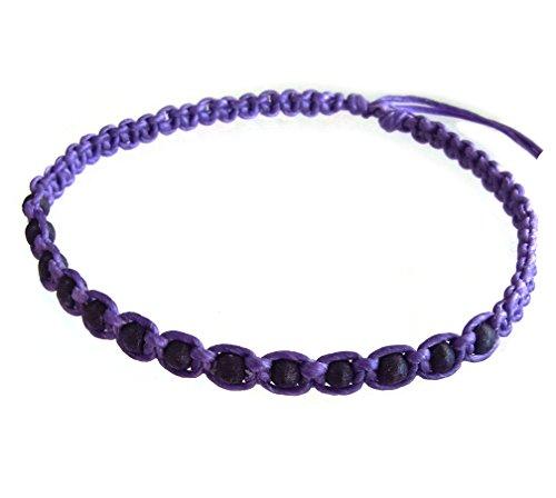 artisan-handgefertigt-unisex-modische-armband-schwarz-holz-beads-lila-wachs-schnur