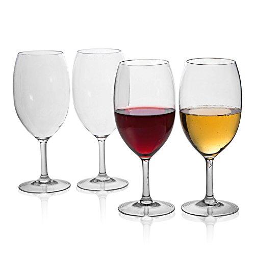 MICHLEY-Unbreakable-Wine-Glasses-100-Tritan-Shatterproof-Wine-Glasses-BPA-free-Dishwasher-safe-185-oz