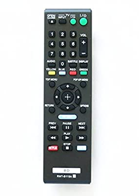 Remote Control OEM Replacement RMT-B119A for Sony Blue-Ray DVD Player BDP-BX110 BDP-S1100 BDP-S3100 BDP-BX310 BDP-BX510 BDP-S580