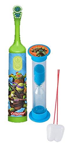 Teenage Mutant Ninja Turtles 2pc Bright Smile Oral Hygiene Set! Turbo Powered Spin Toothbrush & Brushing Timer! Plus