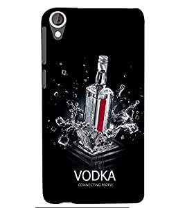 printtech Vodka Connecting people Back Case Cover for HTC Desire 820::HTC Desire 820Q::HTC Desire 820S