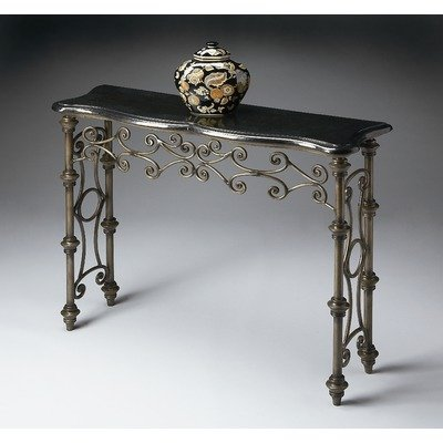 Cheap Metalworks Console Table with Black Fossil Stone Top (B0043Y8QE6)