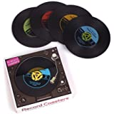 Pack of 4 Vinyl Record Coasters by Gama Go