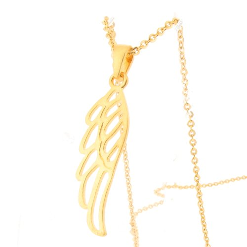 Vermeil Angel Wing Pendant with 18