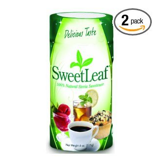 SweetLeaf Stevia Powder, 4-Ounce Shaker Jars (Pack of 2) (Sweetleaf Extract compare prices)