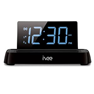 Flex Interactive Talking Alarm Clock FM Radio Black