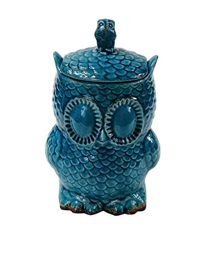 Privilege, Inc. Small Owl Vase, Blue