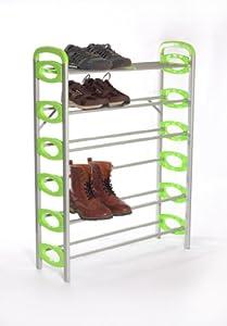 B&E Home Essential - 6-Shelf Metal Shoe Utility Rack - 6 Shelves