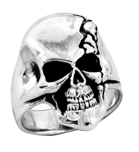 Stainless Steel Skull Ring (Available in Sizes 10 to 14) size13