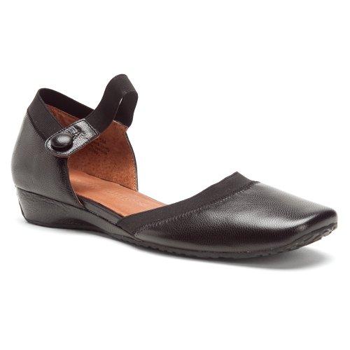 Gentle Souls Iso Jane Ankle-Strap Flat,Black,5 M US