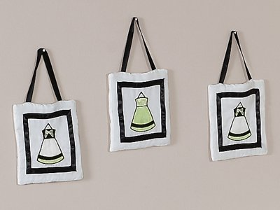 Green, Black and White Princess Wall Hanging Accessories by Sweet Jojo Designs