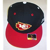 Kansas City Chiefs Flat Bill Reebok Hat Size 7 1/4