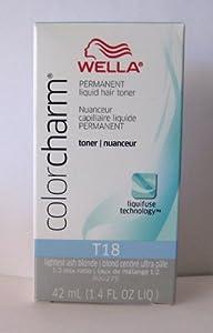 wella color charm t18 white 1 4oz hair