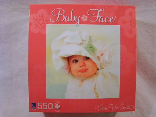 Valerie Tabor Smith 550 Piece Jigsaw Puzzle: Baby Face - Pink Box