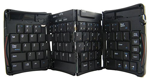 Geyes Bluetooth 3.0 Triple Folding Wireless Keyboard For Iphone Ipad Android Laptop Smartphone